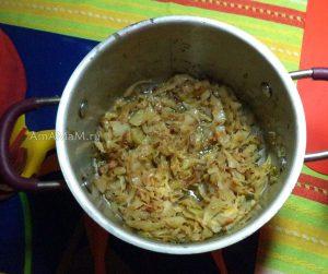 Рецепт начинки из капусты и фото приготовления