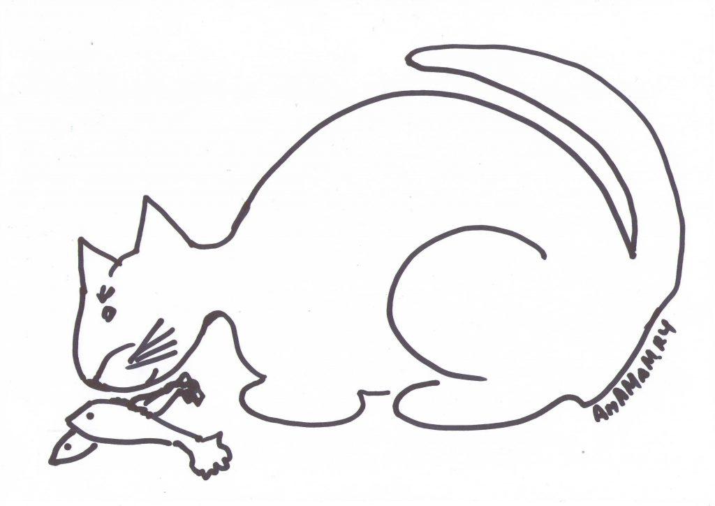 Рисунки с котами для приготовления блюд в виде кошки