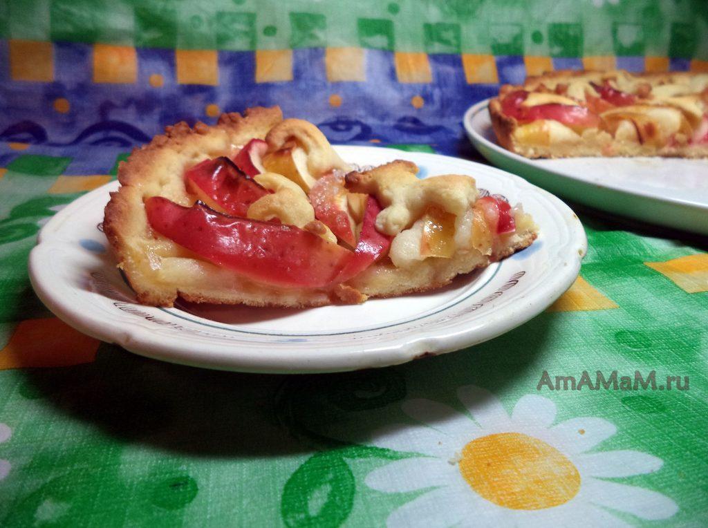 Яблочный пирог печочный - рецепт приготовления