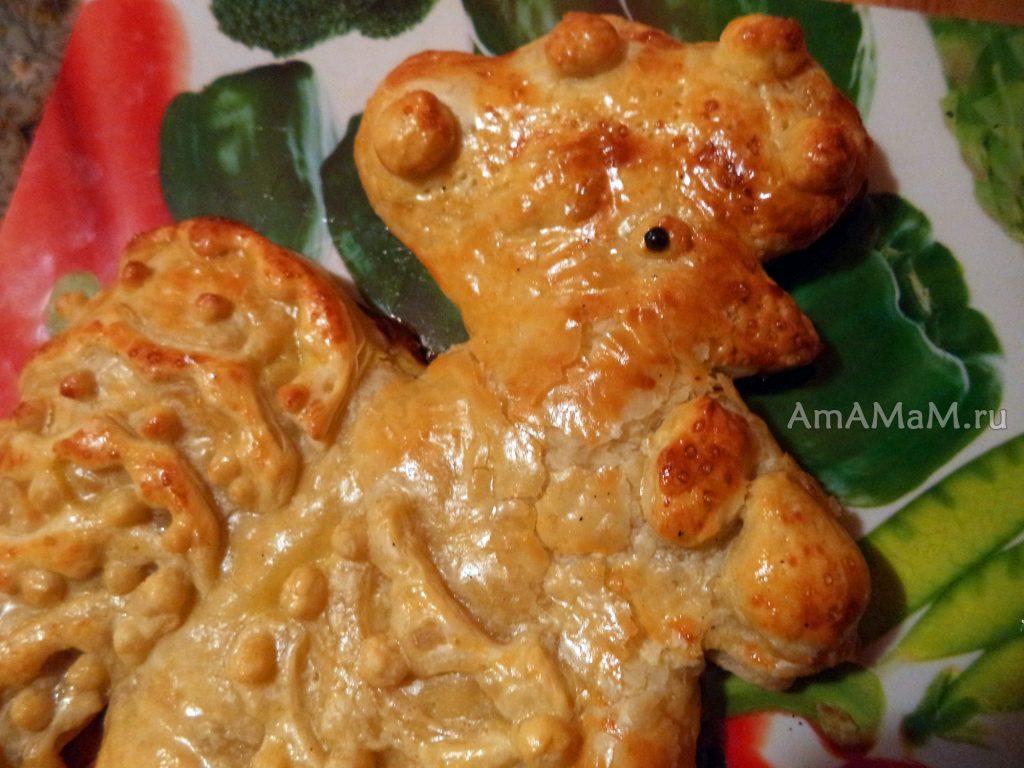Пирог из капусты в виде петуха- рецепт с фото