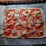 Пицца с курицей и болгарским перцем
