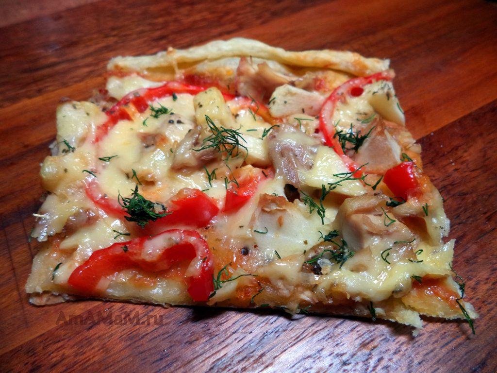 Пицца с курицей - домашний рецепт