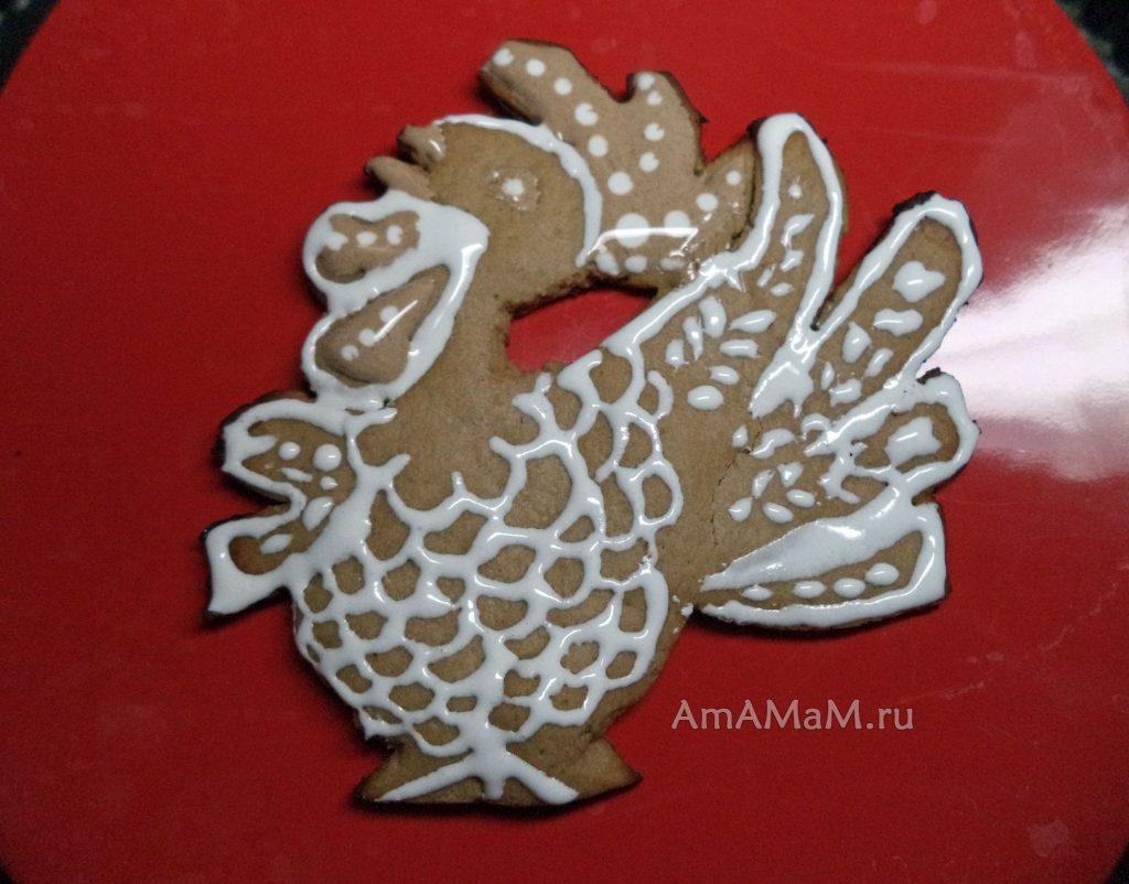 Рецепты пряников - петушок