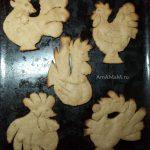 Печенье в форме петухов до декорирования