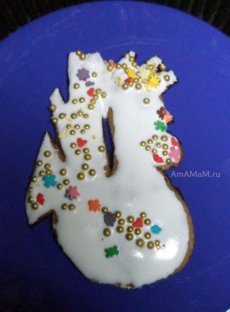Новогодние поделки - пряники в виде петуха своими руками