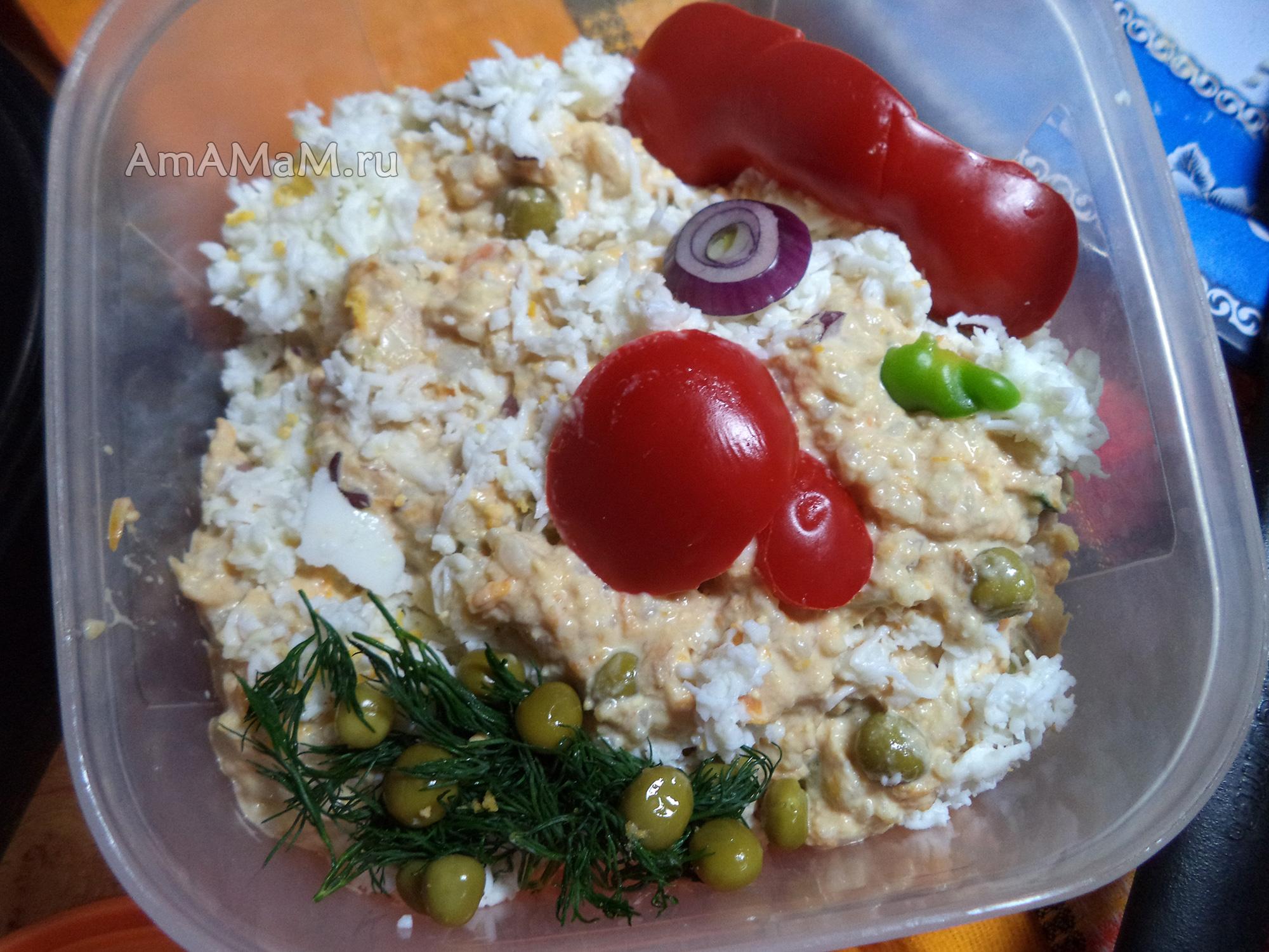 рецепты салата из рыбы в банке