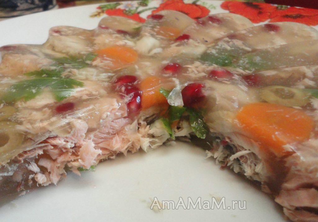 Заливное в силиконовой форме - рецепт из рыбы