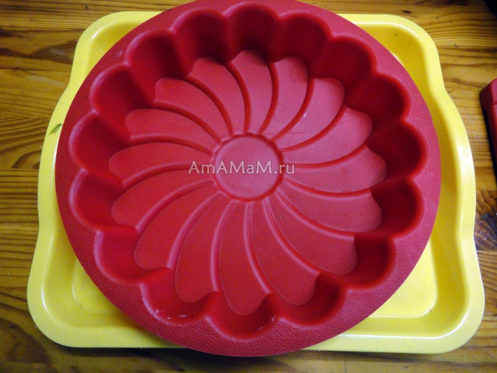 Форма силиконовая для заливного, желе и пирога - фото