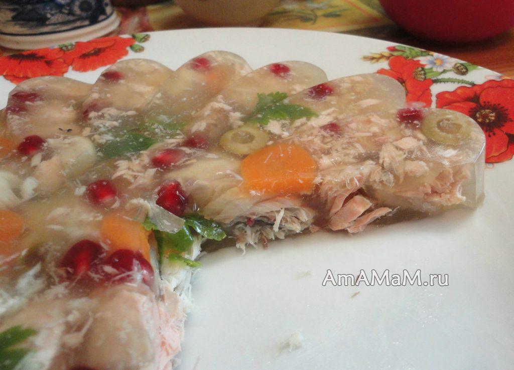 Блюда из горбуши со скумбрией - заливное