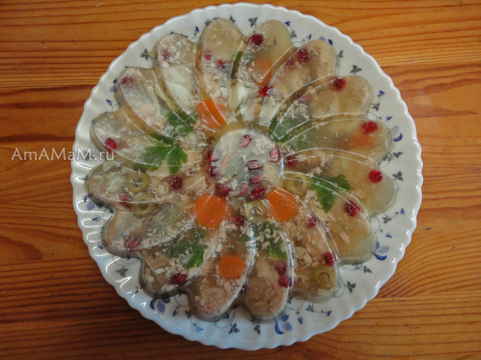 Заливное из скумбрии пошаговый рецепт