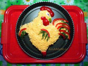 Рецепты рыбных салатов на праздничный стол (Петухи)