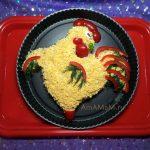 Приготовления салата Петух - как делать
