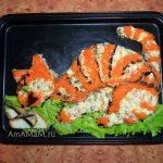 Рыба и кот - вкусный салат