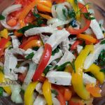 Как выглядит салат из маринованной свинины