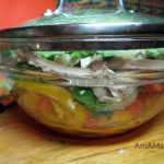 Миска с салатом Кубанский - фото и рецепт приготовления