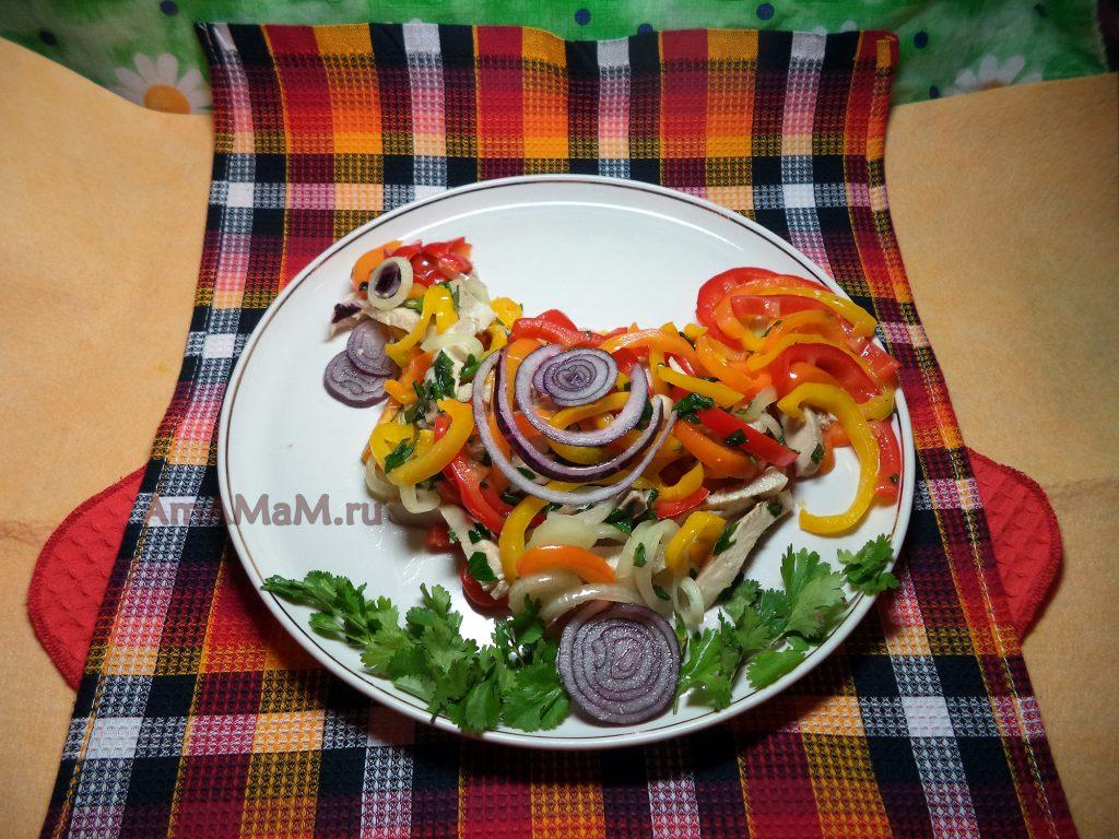 Красивый салат на Новый год, Пасху и другие праздники