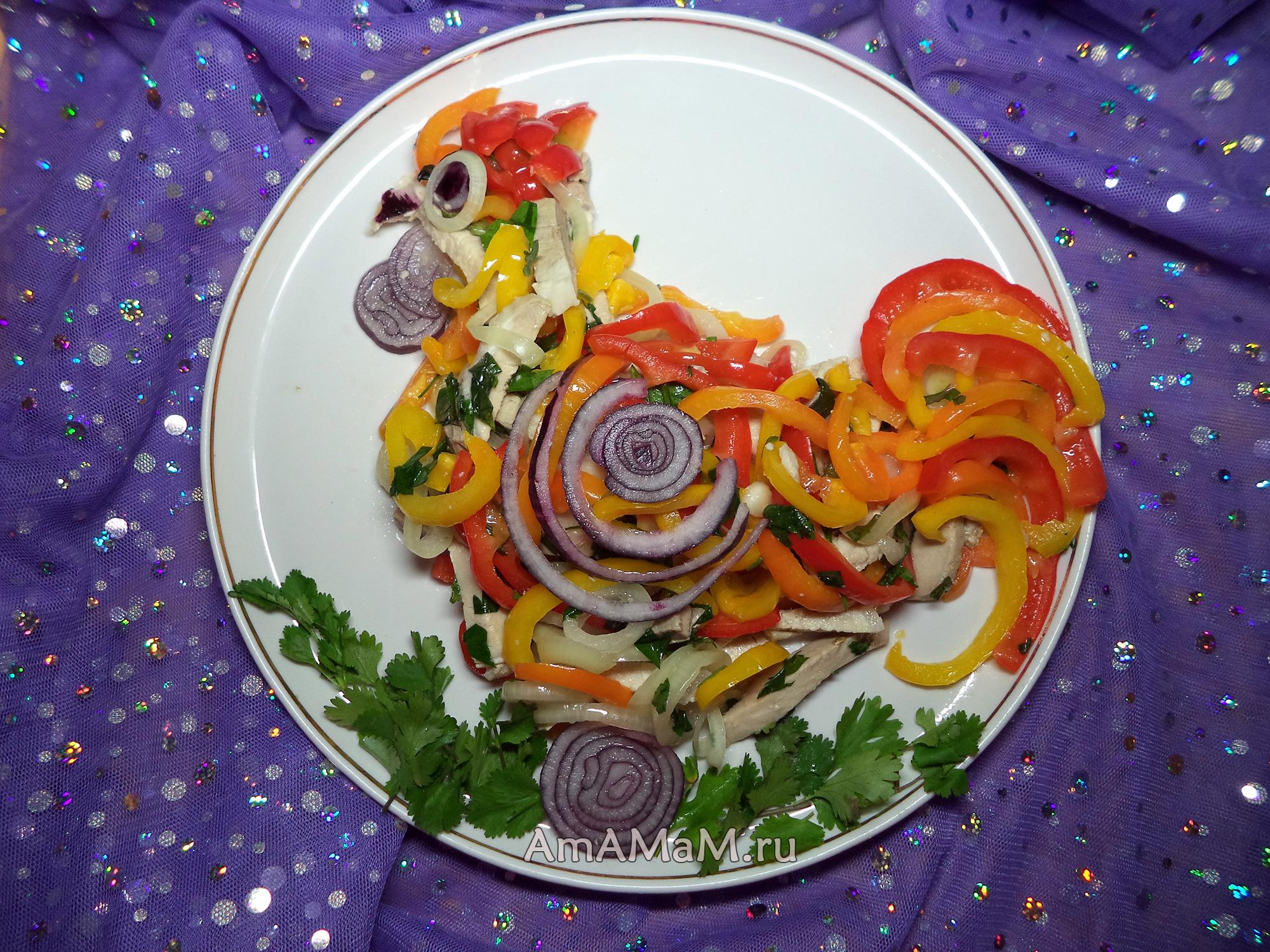 Петух - рецепт салата с пошаговыми фото