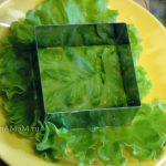 Квадратный салат - как делают в формочке