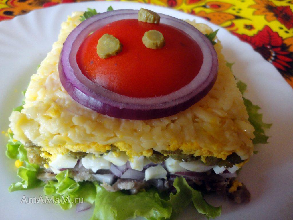 Салат с языком - простой рецепт с фото