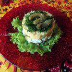 Салат с языком и корнишонами