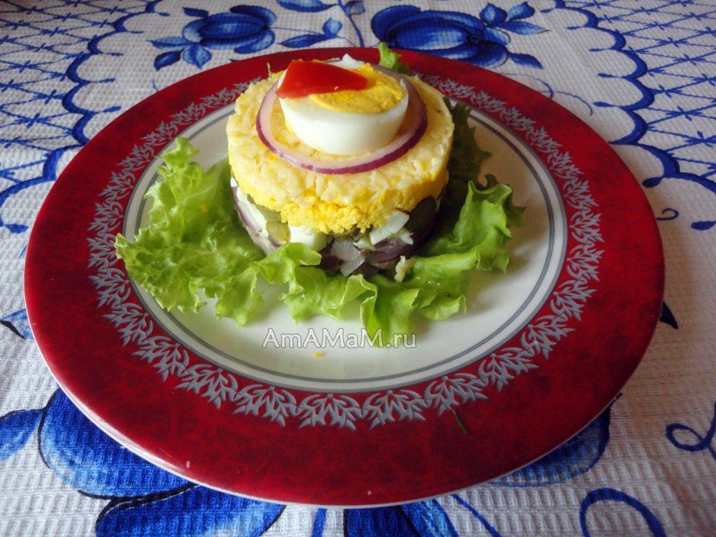 Рецепты домашних салатов в красивой подаче
