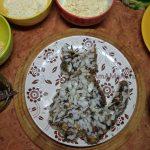 Луковый слой рыбного салата