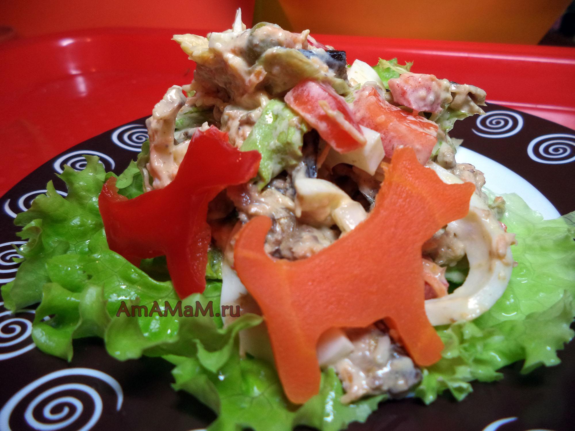 Салат со шпротами пошаговый рецепт с фото