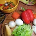 Рецепт салата со шпротами и сладким перцем и фото приготовления