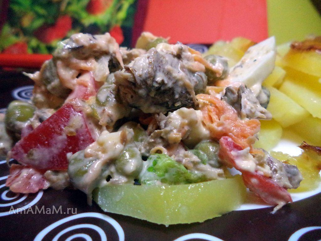 Приготовление простых и вкусных салатов на скорую руку из остатков продуктов