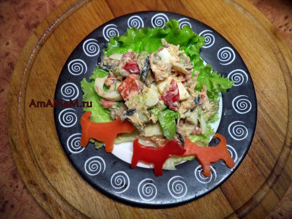 Рецепты салатов из шпрот с пошаговыми фото