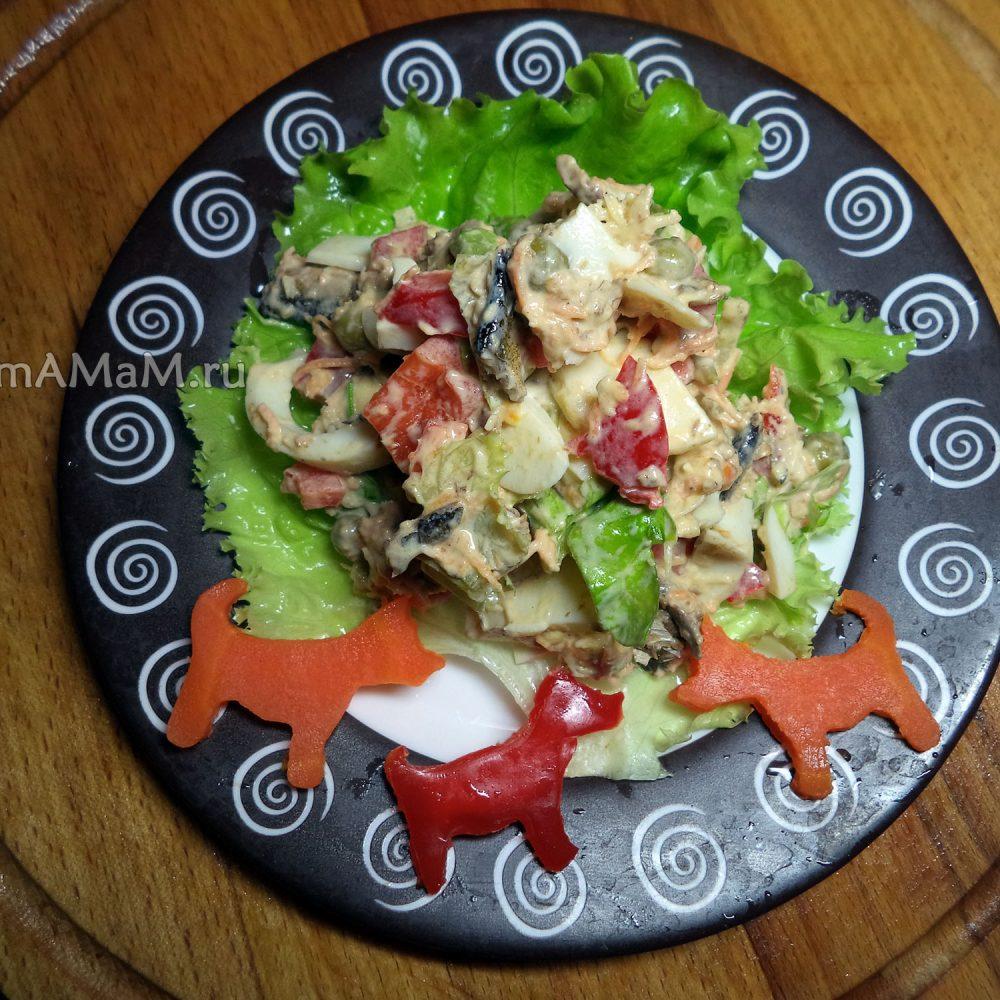 салаты соевый рецепты с фото