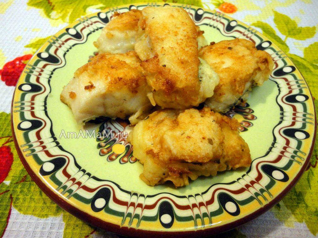 Рецепты из щуки - жареное филе в тесте