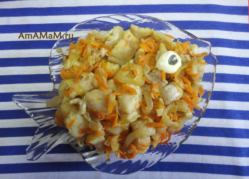 Соленая щука - закуска рыбная