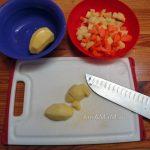 Овощи на картофлеьный суп из обрезков камбалы