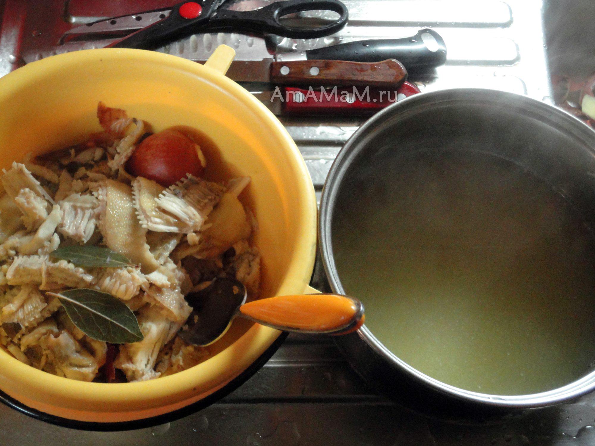 суп из рыбных обрезков рецепт