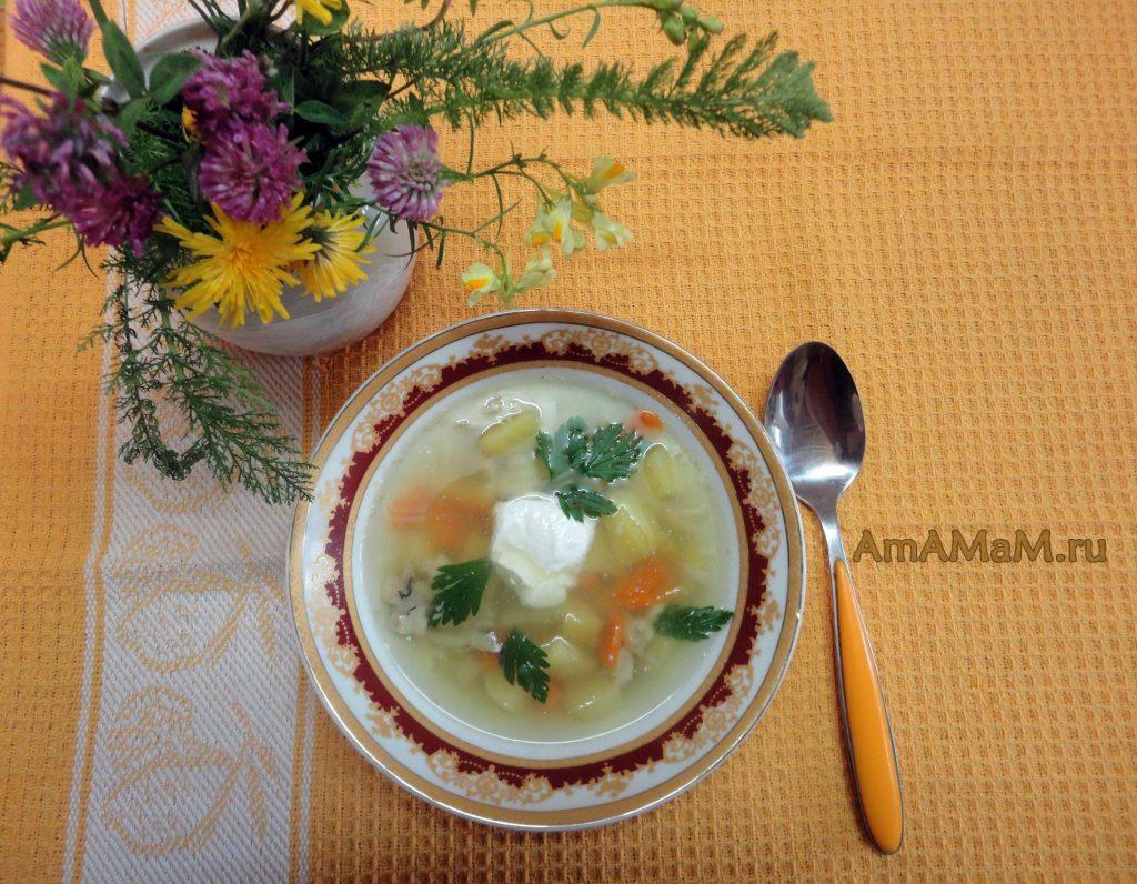 Суп из камбалы (на обрезках)