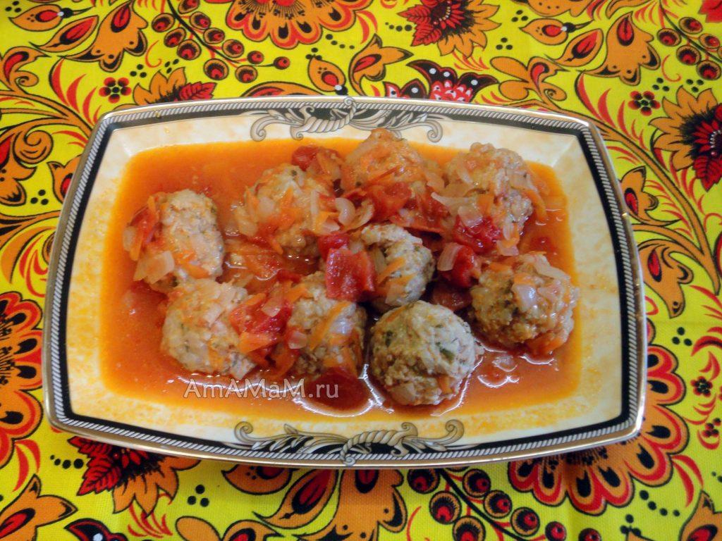 Вкусные фрикадельки из фарша индейки - легкий рецепт