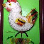 Торт в виде петуха - простой рецепт на Новый годи и Пасзу