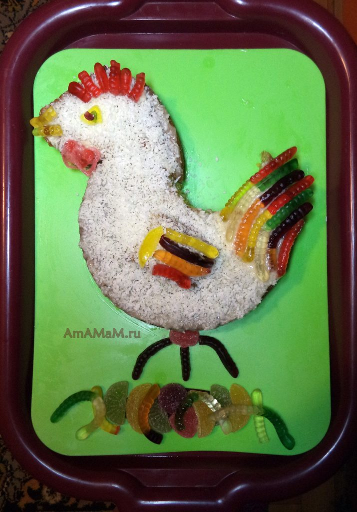 Петух - секрет приготовления новогоднего торта