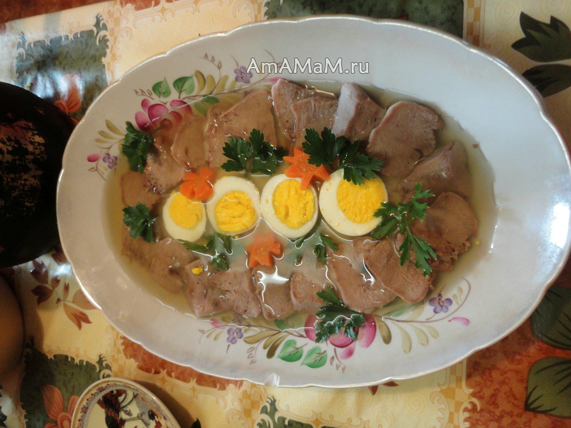 Язык заливной пошаговый рецепт с фото на готовим дома.