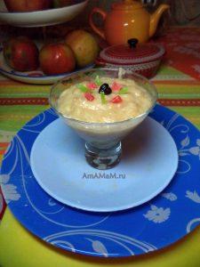 Простой и вкусный банановый десерт с яблоками