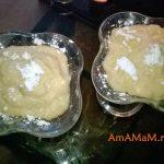Банановый десерт из сливочного и фруктового слоя (2 заварных крема)