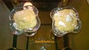 Рецепты легких домашних десертов - кисельный крем с гранатовым соком и бананами