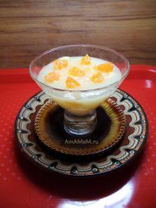 Десерт из мандаринов на основе крахмала - простой рецепт и фото