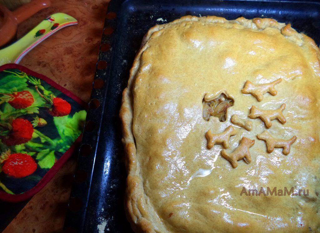 Пирог с собаками - рецепт и фото