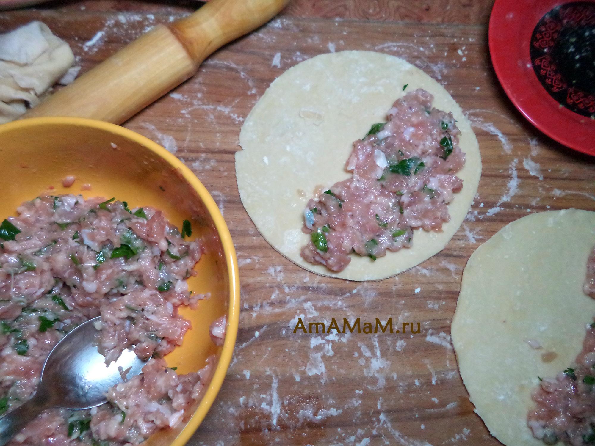 рецепт чебуреков с мясом с водкой