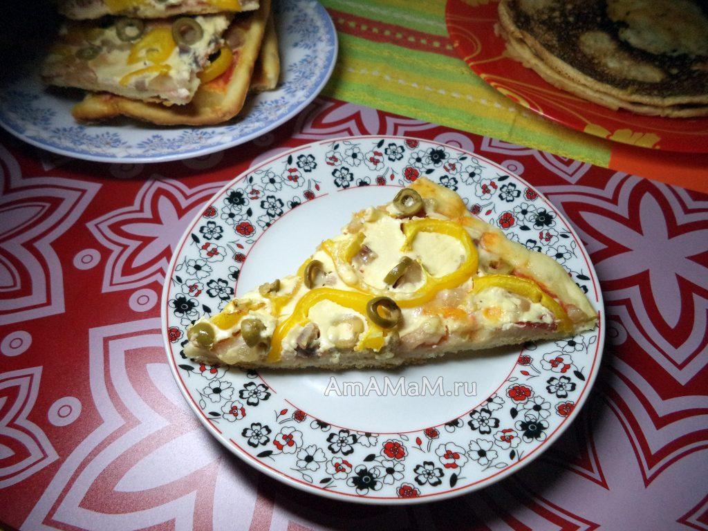 Вкусная пицца с грудинкой - простой рецепт