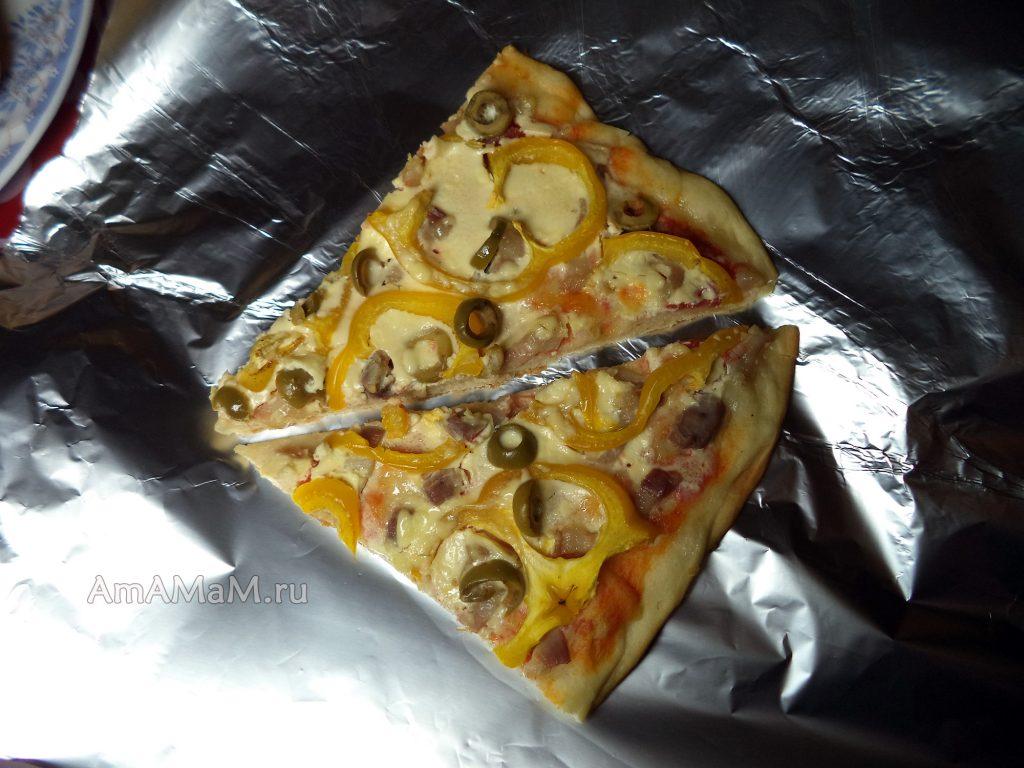 Кусочки пиццы - фото и рецепт