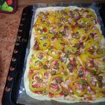 Пицца с мясом и оливками - рецепт