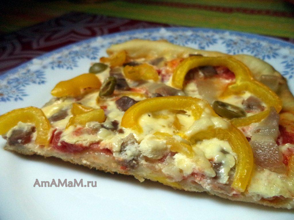 Пицца с корейкой или грудинкой